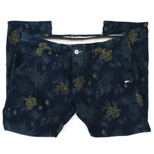 A TIZIANO floral painted jeans